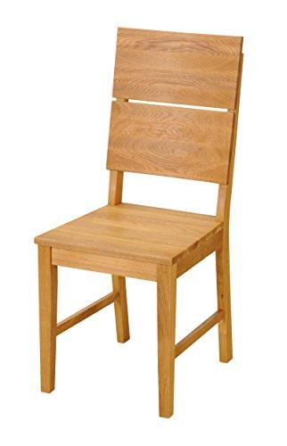 SAM® Esszimmerstuhl Christian aus massiver Wildeiche, geölter Holzstuhl in braun, Stuhl mit hoher Rückenlehne