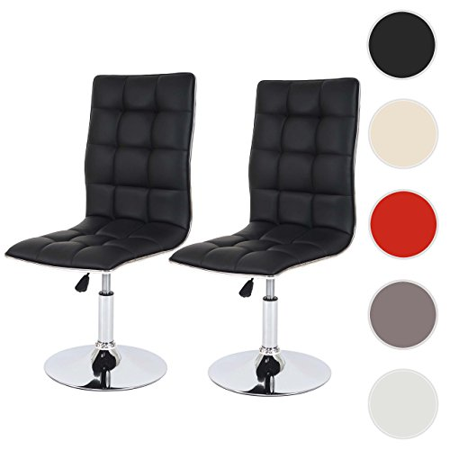2x esszimmerstuhl dieburg stuhl lehnstuhl h henverstellbar drehbar kunstleder schwarz. Black Bedroom Furniture Sets. Home Design Ideas