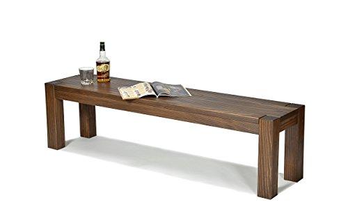 Sitzbank ,,Rio Bonito,, 160x38cm, Bank Massivholz Pinie, geölt und gewachst, Farbton Cognac braun, Optional: passende Tische