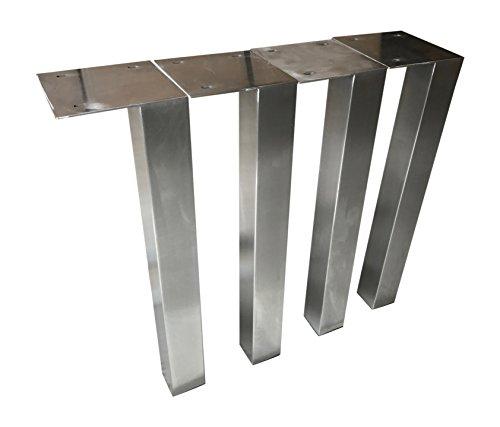 Design Tischbein Tischgestell Edelstahl TUG 503 Tischuntergestell Tischkufe (80 x 80 x 720 mm)