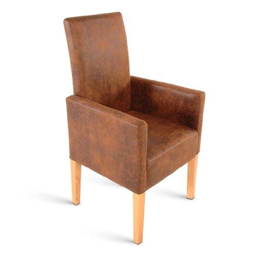 Sam esszimmer armlehnstuhl serano stuhl in brauner for Brauner stuhl