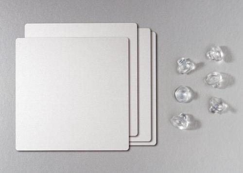 Naber Tischgestell 80 Alu-Optik, 710 x 710 mm, Füße 80 x 80 mm, Artikelnummer 3032020