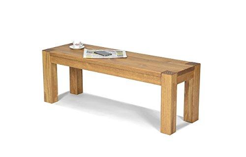 Sitzbank ,,Rio Bonito,, 120x38cm, Bank Massivholz Pinie, geölt und gewachst, Farbton Honig hell, Optional: passende Tische