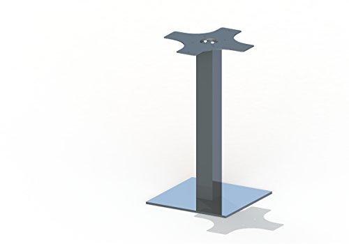Tischgestell Tischsäule Bistrogestell Hera 400 Aluminium eckig Höhe 1090 mm