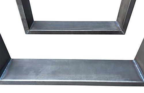 Bankgestell aus Rohstahl Bankuntergestell Industrielook BUG 306 Neu OVP 1 Paar