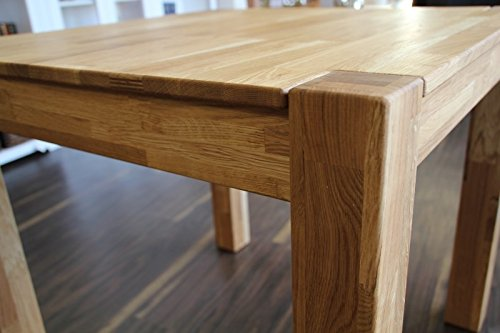 OAKY Esstisch Tisch 120x80 Wildeiche Eiche massiv geölt