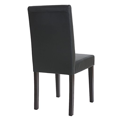 4x esszimmerstuhl stuhl lehnstuhl littau kunstleder schwarz matt dunkle beine. Black Bedroom Furniture Sets. Home Design Ideas
