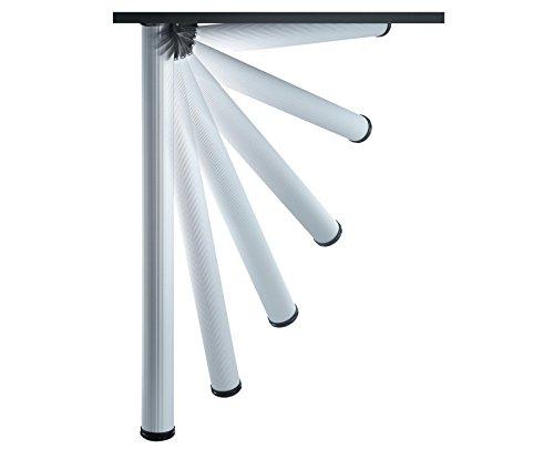 Home System 67621 Tischbein, klappbar, verstellbar, Aluminium, 1 Stück