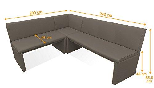 SAM® Eckbank Family Mitchel muddy Variante 240 x 200 (zweite Seite wahlweise 120 / 140 / 160 / 180 / 220 / 240 / 260 cm) links und rechts aufbaubar flexibel