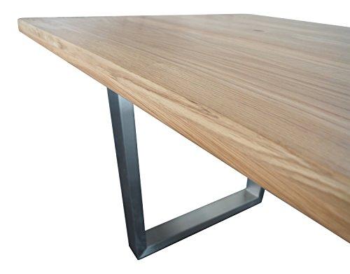 esstisch wildeiche massivholztisch 180x100 200x100 220x100 sofort lieferbar neu ovp gerade. Black Bedroom Furniture Sets. Home Design Ideas