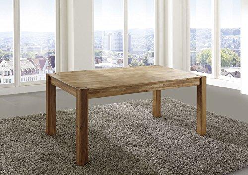 SAM® Esszimmer-Tisch Egon, 120 x 80 cm, aus Wildeiche, Küchentisch geölt, massiv & pflegeleicht, Esstisch, Unikat