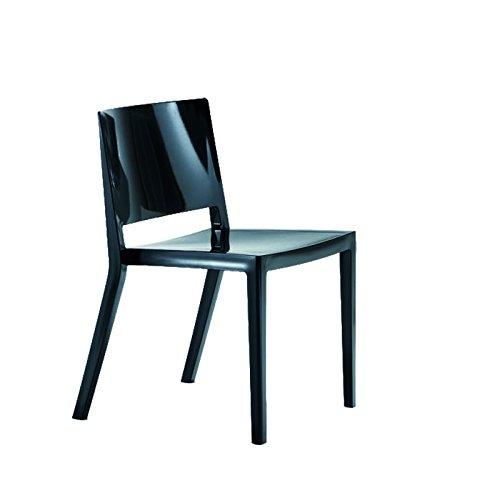 Kartell - Lizz Stuhl - hochglanz lackiert - schwarz - Piero Lissoni - Design - Esszimmerstuhl - Küchenstuhl - Speisezimmerstuhl