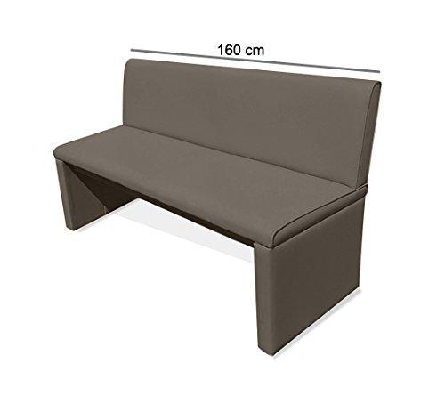 SAM® Einzelbank Sitzbank Family Mitchel 160 cm, Bank mit muddy-farbenem SAMOLUX®-Bezug, gepolsterte Essbank, angenehmer Sitzkomfort
