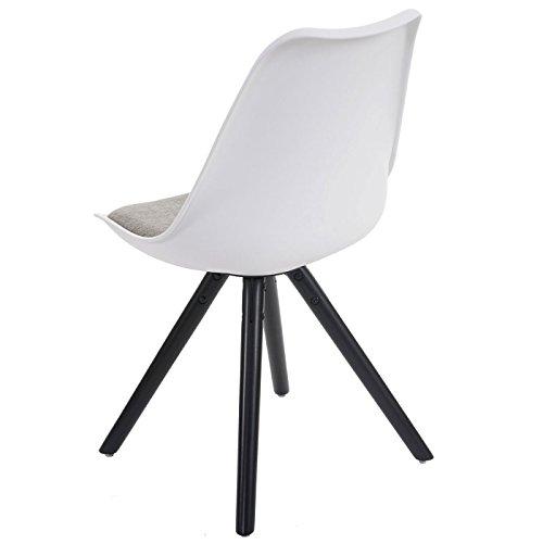 4x esszimmerstuhl malm t501 retro design wei sitzfl che textil grau dunkle beine. Black Bedroom Furniture Sets. Home Design Ideas