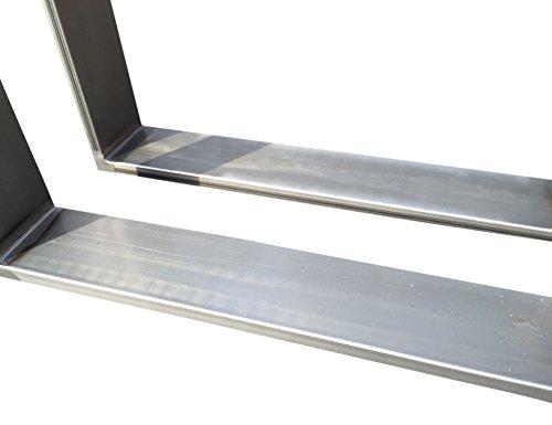 Design Tischgestell Rohstahl Industrielook TUG 206 Tischuntergestell 700x700 mm Tischkufe 1 Stück Kufengestell in versch. Größen Neu und OVP (700x700)