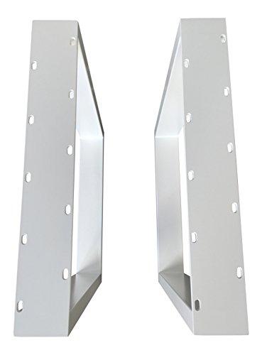 Design Tischgestell Stahl weiß gepulvert TUG 304 Tischuntergestell Tischbein Paar Tischkufe 63,5 cm x 70 cm Neu und OVP