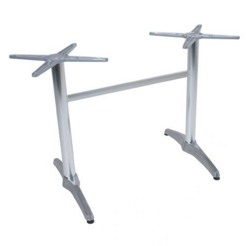 BRENTA Tischgestell Bistrotisch Alu Tisch Gestell Doppelwangen (2) Gastronomie Tische Gestelle für rechteckige Tische