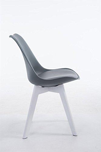 clp design retro stuhl borneo v2 besucherstuhl mit holzgestell materialmix aus kunststoff und. Black Bedroom Furniture Sets. Home Design Ideas