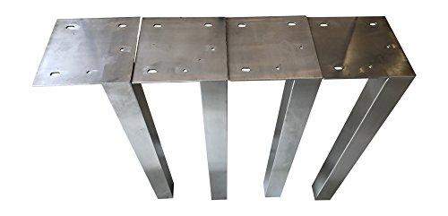 Design Tischbein Tischgestell Edelstahl TUG 503 Tischuntergestell Tischkufe Neu 1 Stück Tischbein (60 mm x 60 mm x 720 mm)