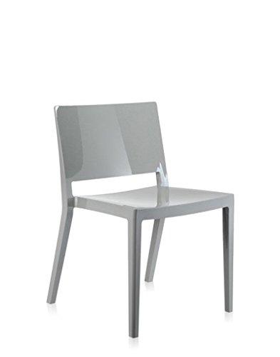 Kartell - Lizz Stuhl - hochglanz lackiert - grau - Piero Lissoni - Design - Esszimmerstuhl - Küchenstuhl - Speisezimmerstuhl