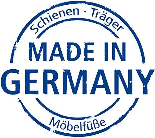 Element System 4 Stück Stahlrohrfüße eckig Tischbeine,  Möbelfüße Inklusive Anschraubplatte,  4 Farben,  10 Abmessungen,  30 cm,  weiß-aluminium, 18133-00300