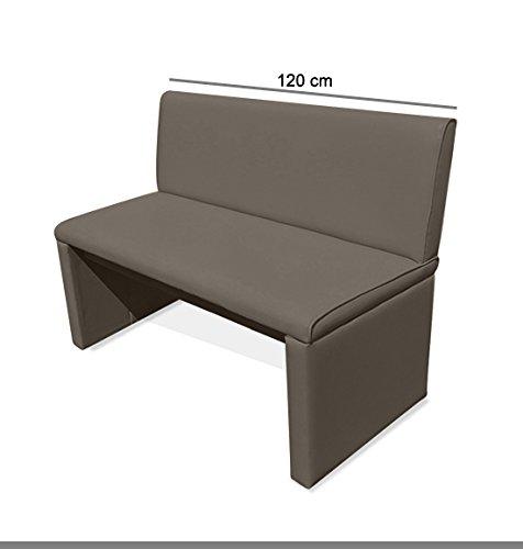 SAM® Einzelbank Sitzbank Family Mitchel 120 cm, Bank mit muddy-farbenem SAMOLUX®-Bezug, gepolsterte Essbank, angenehmer Sitzkomfort