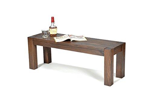Sitzbank ,,Rio Bonito,, 120x38cm, Bank Massivholz Pinie, geölt und gewachst, Farbton Cognac braun, Optional: passende Tische