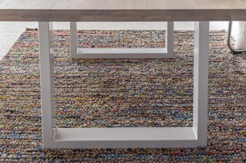 Massivholztisch Esstisch massiv Wildeiche JACK bianco geölt, Größe:180x100