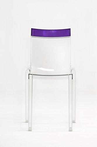Kartell Hi Cut Essstühle, Plastik, violett, 55 x 84 x 46 cm