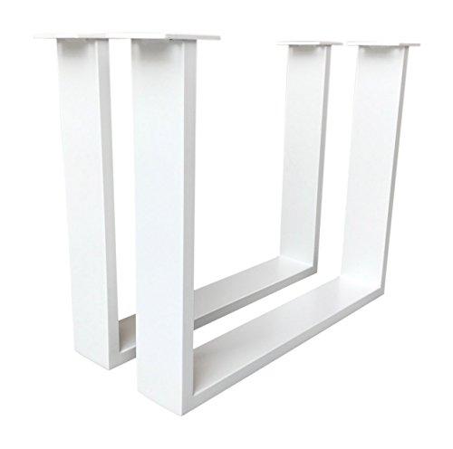 Tischuntergestell für Couchtisch Stahl weiß Tischgestell Couchtischgestell CUG 304