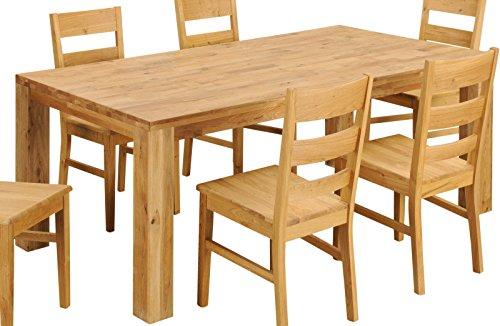 Tisch Esstisch 'Flensburg' 160x90cm Wildeiche massiv Holz geölt