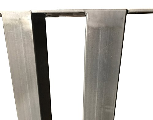 Design 1 Tischbein Tischgestell Rohstahl TUG 506 Tischuntergestell Tischkufe Industrielook (60 x 60 x 720 mm)