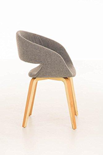 clp besucher stuhl pano mit armlehne gepolstert holzgestell modern hellgrau esszimmerst. Black Bedroom Furniture Sets. Home Design Ideas