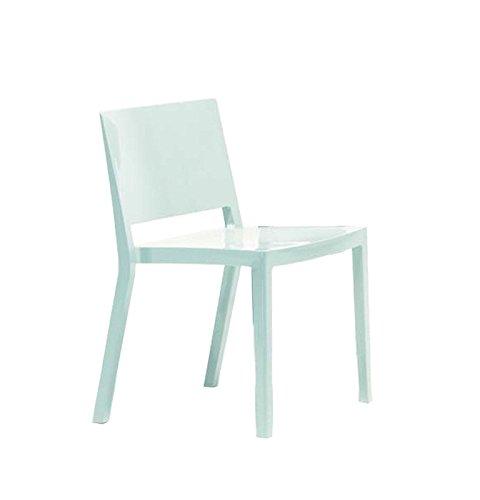 Kartell - Lizz Stuhl - hochglanz lackiert - weiß - Piero Lissoni - Esszimmerstuhl - Küchenstuhl - Speisezimmerstuhl - Design