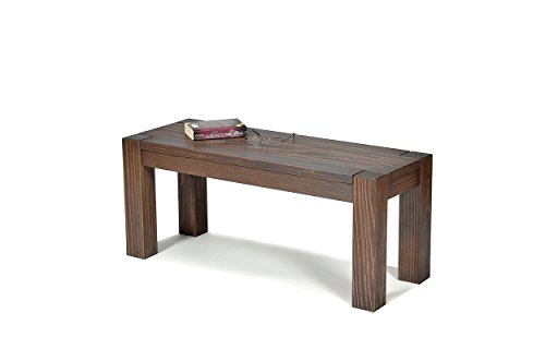 Sitzbank ,,Rio Bonito,, 100x38cm, Bank Massivholz Pinie, geölt und gewachst, Farbton Cognac braun, Optional: passende Tische