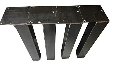 Design Tischbein Tischgestell Rohstahl TUG 506 Tischuntergestell Tischkufe Industrielook (80 x 80 x 720 mm)