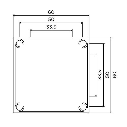 Tischbeine 100% Aluminium, höhenverstellbar   Sossai® Exklusiv E4TBGS   Ausführung: Edelstahl gebürstet, Vierkant   Set: 4 Stück   Höhe: 82 cm (820 mm), einstellbar + 2 cm …