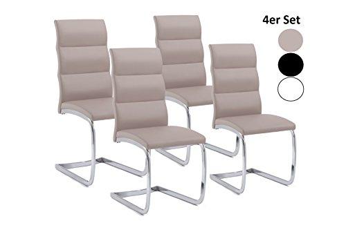 cavadore schwingstuhl4er set bow 4 freischwinger ohne armlehne in elegantem design. Black Bedroom Furniture Sets. Home Design Ideas