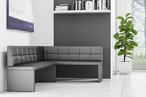 Eckbank-ELA-Exklusiv-130-x-170-cm-Schwarz-Rechts ( Sondermaße auf Anfrage möglich )
