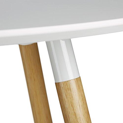 relaxdays runder esstisch arvid holz hxd 74 x 90 cm beine natur gummi untersetzer wei. Black Bedroom Furniture Sets. Home Design Ideas