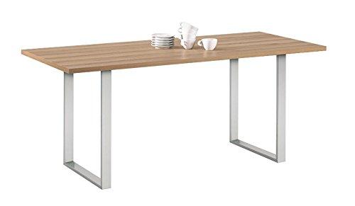GedoTec® Stahl-Tischkufe Tischgestell zum Anschrauben   Tragkraft 150 kg   Metall Rohstahl lackiert im Vintage / Retro Look   Profil 80 x 20 mm   Tischbein höhen-verstellbar +10 mm   Markenqualität für Ihren Wohnbereich