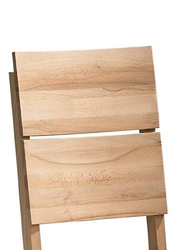 SAM® Esszimmerstuhl Christian aus massiver Kernbuche, geölter Holzstuhl in braun, Stuhl mit hoher Rückenlehne