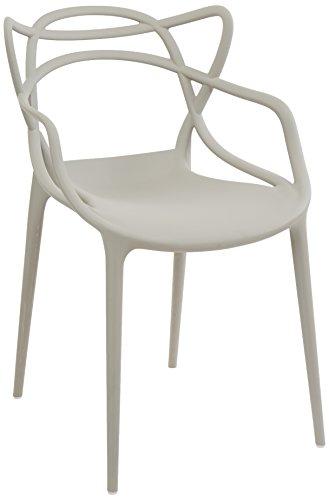 kartell 0586507 masters essst hle plastik grau 55 x 83. Black Bedroom Furniture Sets. Home Design Ideas