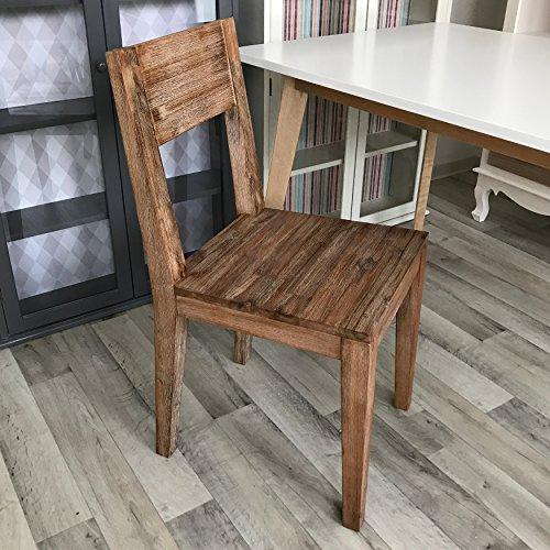 2x Esszimmerstuhl Stühle Esszimmerstühle Wohnzimmerstuhl Akazie massiv Holz 2er Set