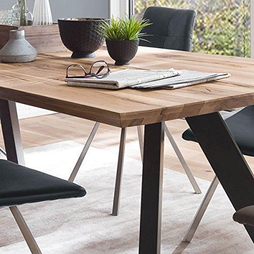 esstisch esszimmertisch tisch baloo 180 x 90 cm modernes industrie design massivholz holz. Black Bedroom Furniture Sets. Home Design Ideas
