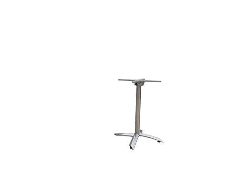 Tischgestell Aluminium Edelstahllook, einklappbar, Kreuzfuß stapelbar