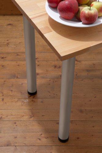 Meister Tischbeine Aluminiumlook, 4 Stück, 620219