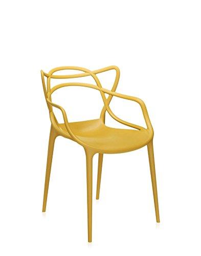 Kartell - Masters - senf - Philippe Starck - Design - Esszimmerstuhl - Gartenstuhl - Küchenstuhl - Speisezimmerstuhl - Terrassenstuhl