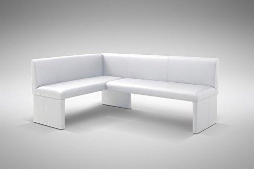design eckbank otto modern kunstleder weiss rechts esszimmerst. Black Bedroom Furniture Sets. Home Design Ideas