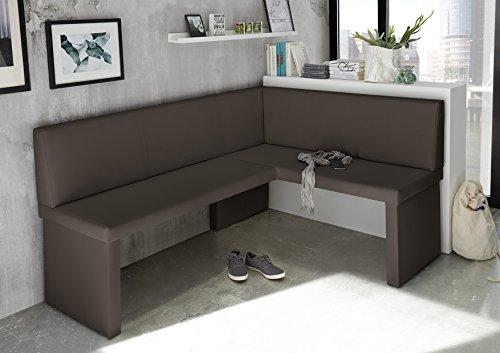 eckbank olga braun k chenbank sitzecke dick gepolstert kunstleder pflegeleicht stabiles. Black Bedroom Furniture Sets. Home Design Ideas
